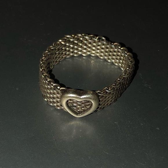 Tiffany & Co. Jewelry - Tiffany and Co. mesh heart ring